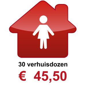 Verhuisdozen kopen 1 persoons huishouden